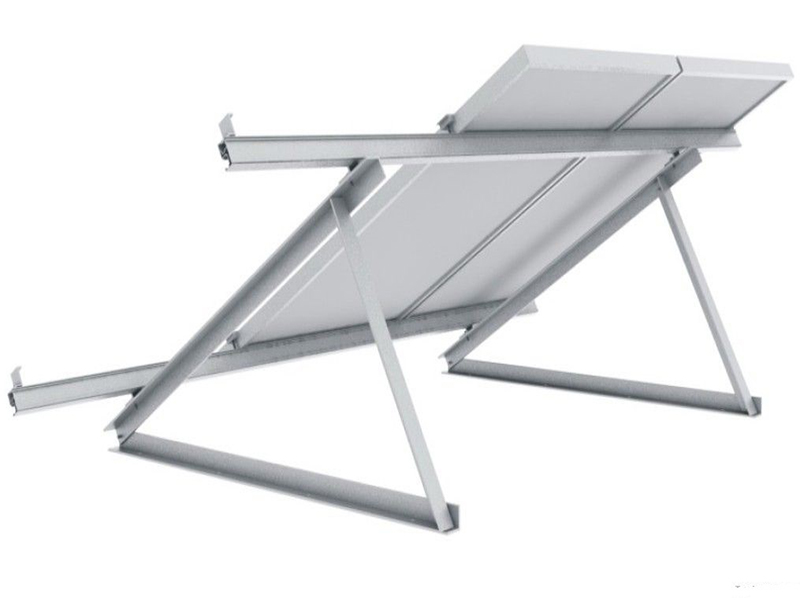 Triangle flat roof mounting structures