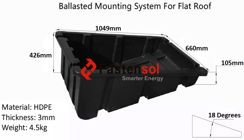 Plastic Ballasted Roof Mounting System