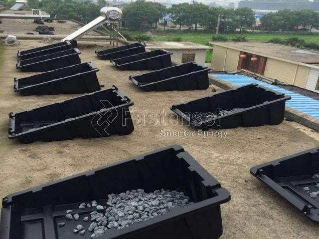 Custom Plastic Ballasted Roof Mounting System